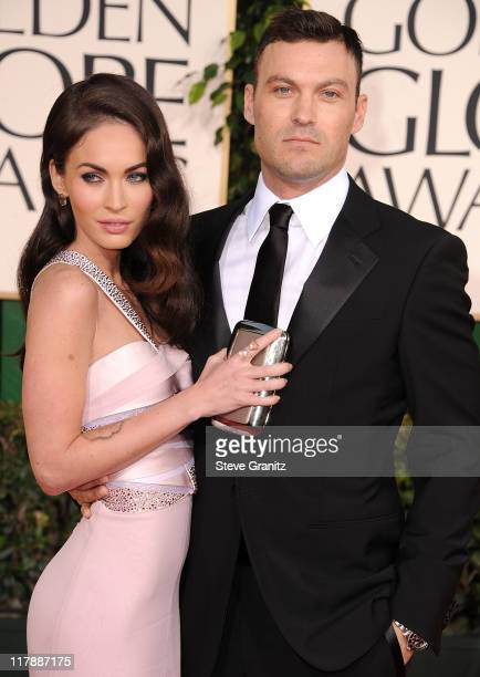 Megan Fox and Brian Austin Green attends the 68th Annual Golden Globe Awards at The Beverly Hilton hotel on January 16 2011 in Beverly Hills...