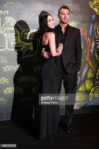 Megan Fox and husband Brian Austin Green attend the Underground Event Screening of Paramount Pictures' 'TEENAGE MUTANT NINJA TURTLES' at UFO Sound...
