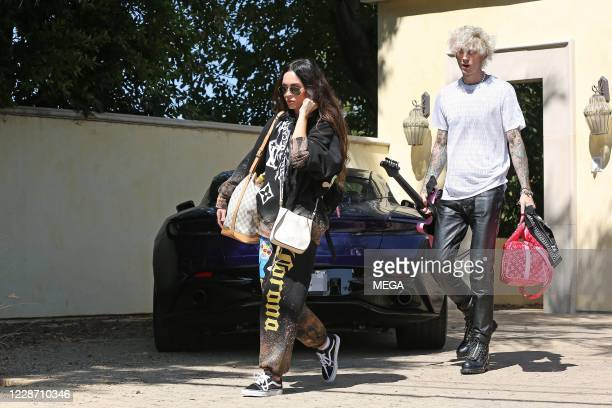 Megan Fox and Machine Gun Kelly are seen on September 25, 2020 in Los Angeles, California.