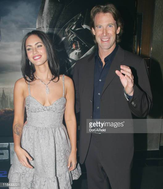 Megan Fox and Michael Bay during 'Transformers' Sydney Premiere at Hoyts Entertainment Quarter 213 Bent Street Moore Park in Sydney NSW Australia