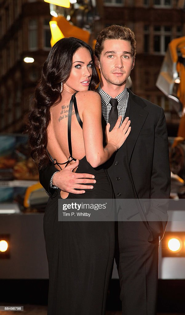 Megan Fox and Shia LaBeouf attend the UK Premiere of Transformers: Revenge of the Fallen at Odeon Leicester Square on June 15, 2009 in London, England.