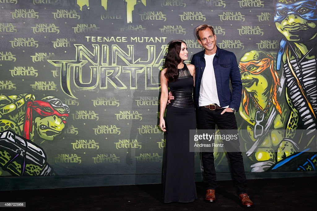 Megan Fox and Will Arnett attend the Underground Event Screening of Paramount Pictures' 'TEENAGE MUTANT NINJA TURTLES' at UFO Sound Studios on October 5, 2014 in Berlin, Germany.