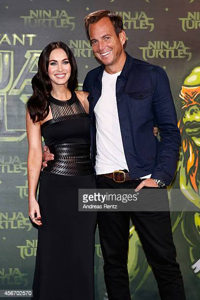 Megan Fox and Will Arnett attend the Underground Event Screening of Paramount Pictures' 'TEENAGE MUTANT NINJA TURTLES' at UFO Sound Studios on...