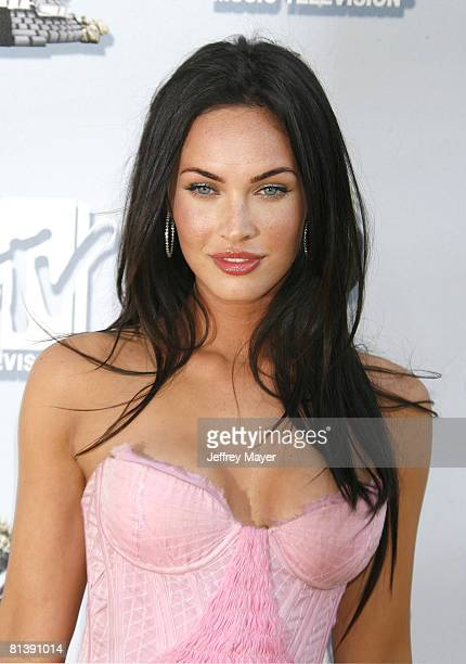 Megan Fox arrives at the 2008 MTV Movie Awards on June 1 2008 at the Gibson Amphitheatre in Universal City California