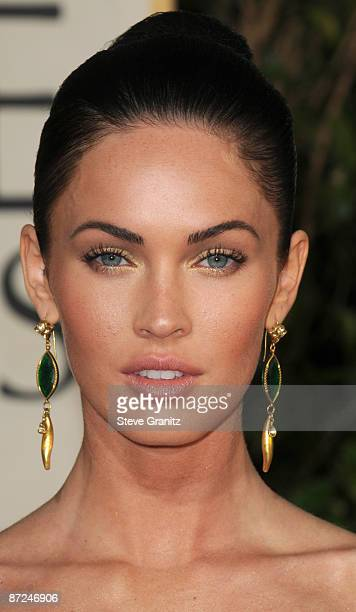 Megan Fox arrives at The 66th Annual Golden Globe Awards at The Beverly Hilton Hotel on January 11 2009 in Hollywood California
