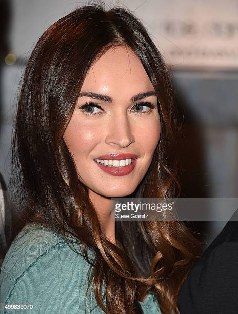 Megan Fox arrives at the FOX's 'New Girl' 100th Episode CakeCutting at Fox Studio Lot on December 2 2015 in Century City California