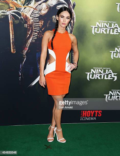 Megan Fox arrives at the Sydney Premiere of 'Teenage Mutant Ninja Turtles' at The Entertainment Quarter on September 7 2014 in Sydney Australia