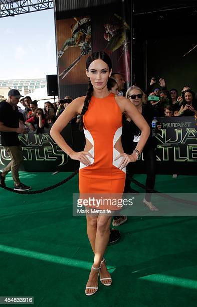 """Megan Fox arrives at the Sydney Special Event Screening of """"Teenage Mutant Ninja Turtles"""" at The Entertainment Quarter on September 7, 2014 in..."""