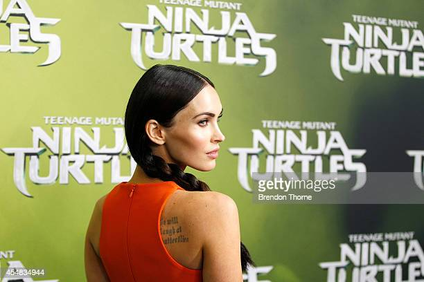 Megan Fox arrives at the Sydney Special Event Screening of 'Teenage Mutant Ninja Turtles' at The Entertainment Quarter on September 7 2014 in Sydney...