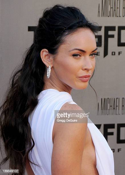 Megan Fox arrives for the Los Angeles Premiere of Transformers Revenge Of The Fallen at the Mann's Village Theater in Westwood California on June 22...