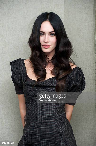 "Megan Fox at the ""Jennifer's Body"" press conference at the Park Hyatt on September 12, 2009 in Toronto, Canada."