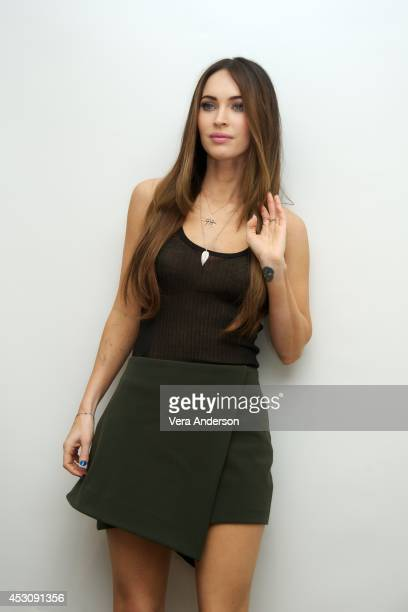 Megan Fox at the 'Teenage Mutant Ninja Turtles' Press Conference at the Four Seasons Hotel on August 1 2014 in Beverly Hills California
