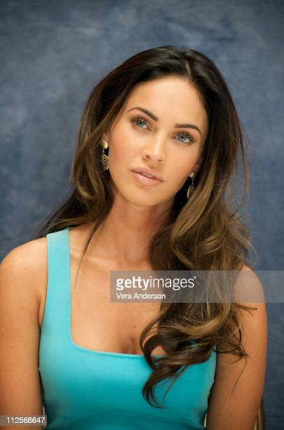 Megan Fox at the 'Transformers Revenge of the Fallen' press conference at the Four Seasons Hotel on May 21 2009 in Beverly Hills California