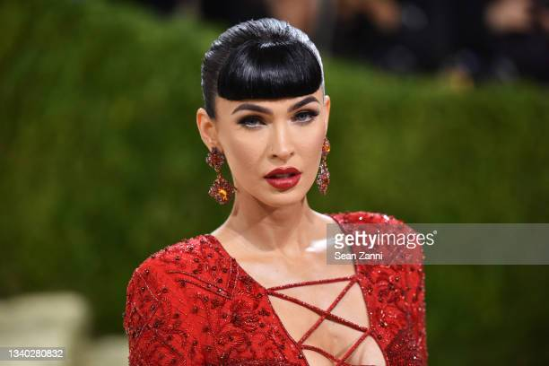 Megan Fox attends 2021 Costume Institute Benefit - In America: A Lexicon of Fashion at the Metropolitan Museum of Art on September 13, 2021 in New...