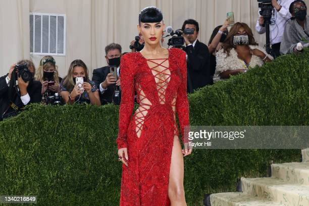 """Megan Fox attends the 2021 Met Gala benefit """"In America: A Lexicon of Fashion"""" at Metropolitan Museum of Art on September 13, 2021 in New York City."""