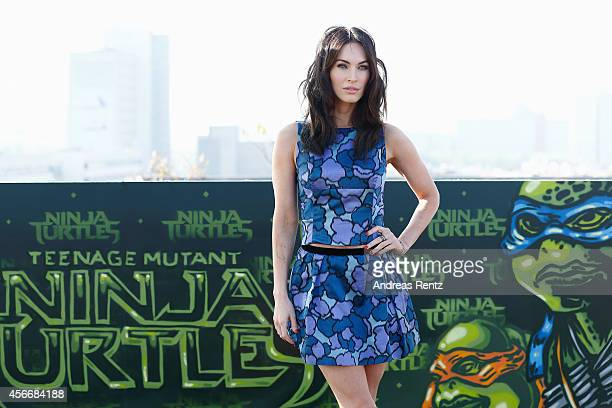 Megan Fox attends the photocall of Paramount Pictures' 'TEENAGE MUTANT NINJA TURTLES' at ic Berlin brillen GmbH on October 5 2014 in Berlin Germany