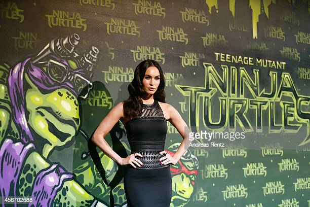 Megan Fox attends the Underground Event Screening of Paramount Pictures' 'TEENAGE MUTANT NINJA TURTLES' at UFO Sound Studios on October 5 2014 in...