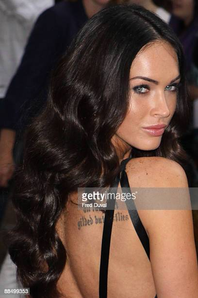 Megan Fox attends UK premiere of 'Transformers' at Odeon Leicester Square on June 15 2009 in London England