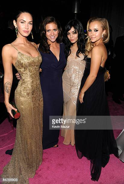 Megan Fox Brittany Snow Vanessa Hudgens and Hayden Panettiere attend the InStyle and Warner Bros Golden Globe PostParty held at the Beverly Hilton...