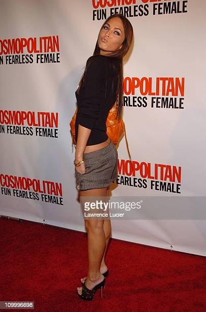 Megan Fox during Cosmopolitan's 40th Birthday Bash at Skylight Studios in New York City New York United States