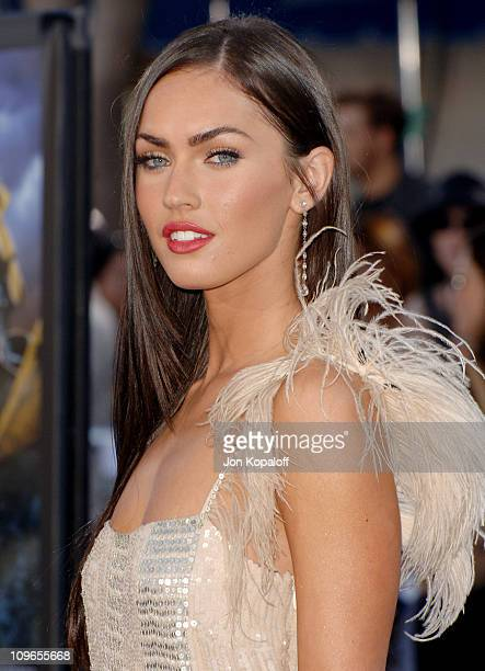 Megan Fox during 'Transformers' Los Angeles Premiere Arrivals at Mann Village Theater in Westwood California United States