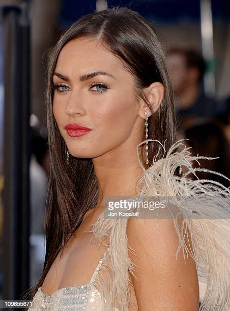 Megan Fox during Transformers Los Angeles Premiere Arrivals at Mann Village Theater in Westwood California United States