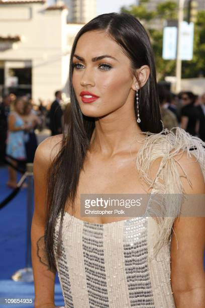 Megan Fox during 'Transformers' Los Anglese Premiere Arrivals and After Party at Mann Village Theatre in Westwood California United States