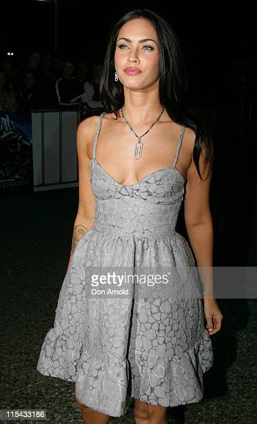 Megan Fox during 'Transformers' Sydney Premiere at Hoyts Entertainment Quarter 213 Bent Street Moore Park in Sydney NSW Australia