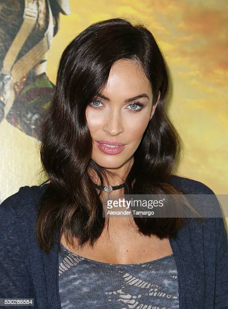 Megan Fox is seen attending a special fan event at Regal South Beach on behalf of the film 'Teenage Mutant Ninja Turtles Out of the Shadows' on May...