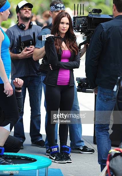 Megan Fox is seen during filming Teenage Mutant Ninja Turtles in Flatiron District on May 7 2013 in New York City