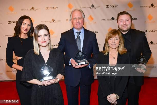 Megan Fox Jemma Riley Tolch Paul Massey Anna Behlmer and Glen Gathard attend the 55th Annual Cinema Audio Society Awards at InterContinental Los...