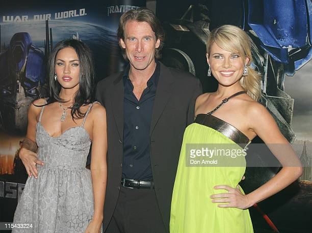 Megan Fox Michael Bay and Rachael Taylor during Transformers Sydney Premiere at Hoyts Entertainment Quarter 213 Bent Street Moore Park in Sydney NSW...