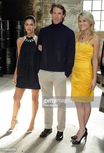 Megan Fox Michael Bay and Rachael Taylor during 'Transformers' Sydney Press Conference at Carriageworks Eveleigh in Sydney NSW Australia