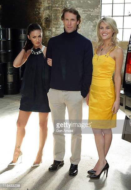 Megan Fox Michael Bay and Rachael Taylor during Transformers Sydney Press Conference at Carriageworks Eveleigh in Sydney NSW Australia