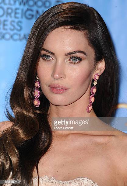 Megan Fox poses at the 70th Annual Golden Globe Awards at The Beverly Hilton Hotel on January 13 2013 in Beverly Hills California