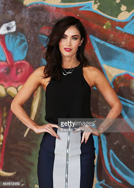 "Megan Fox poses during a photo call for the ""Teenage Mutant Ninja Turtles"" at Paddington Reservoir on September 8, 2014 in Sydney, Australia."