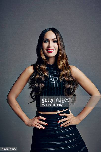 Megan Fox poses for a portrait at the Getty Images Portrait Studio powered by Samsung Galaxy at ComicCon International 2014 on July 24 2014 in San...