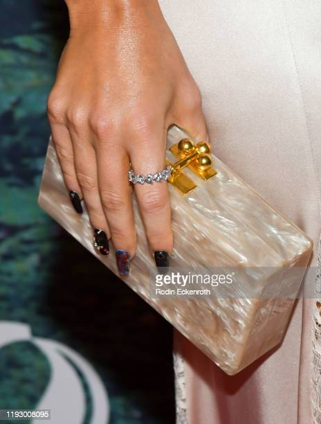 Megan Fox, purse detail, attends the PUBG Mobile's #FIGHT4THEAMAZON Event at Avalon Hollywood on December 09, 2019 in Los Angeles, California.