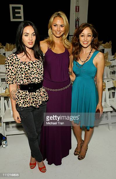 Megan Fox Stacy Keibler and Autumn Reeser front row at TART Spring 2008 collection during Mercedes Benz Fashion Week held at Smashbox Studios on...