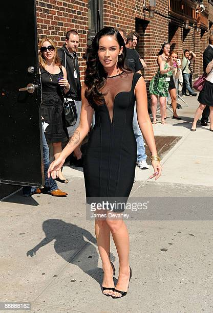 Megan Fox visits 'Late Show With David Letterman' at the Ed Sullivan Theater on June 25 2009 in New York City