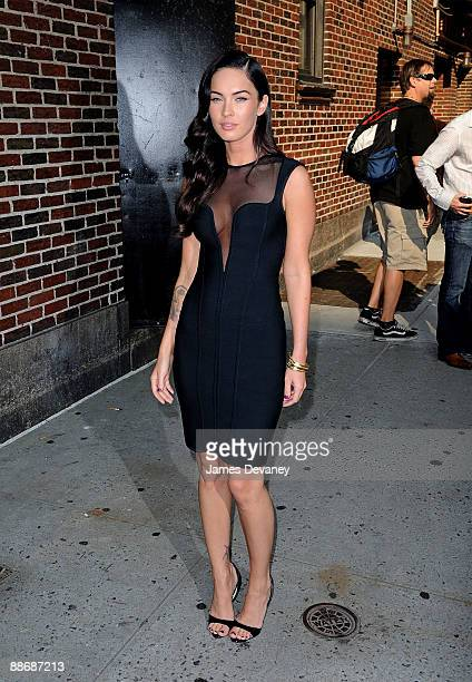 Megan Fox visits Late Show With David Letterman at the Ed Sullivan Theater on June 25 2009 in New York City