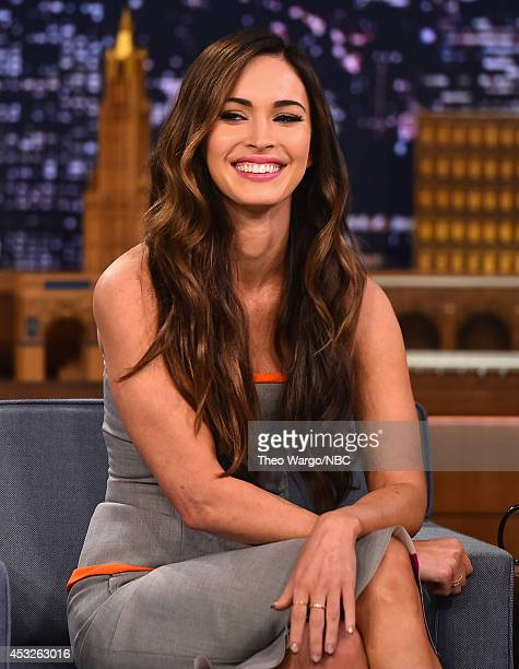 "Megan Fox Visits ""The Tonight Show Starring Jimmy Fallon"" at Rockefeller Center on August 6, 2014 in New York City."