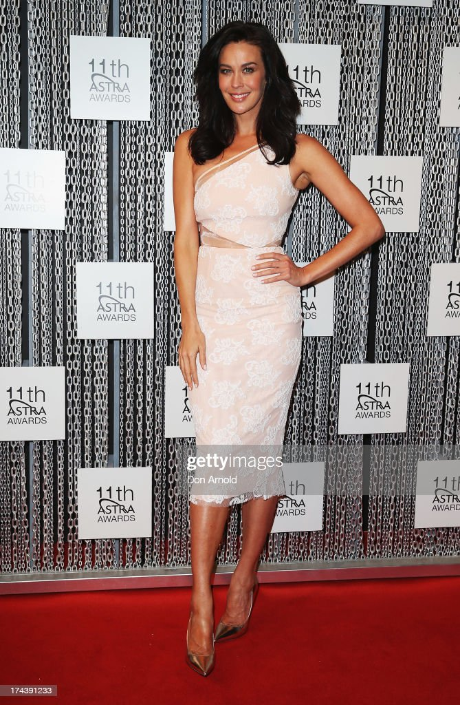 Megan Gale arrives at the 11th Annual ASTRA Awards at Sydney Theatre on July 25, 2013 in Sydney, Australia.