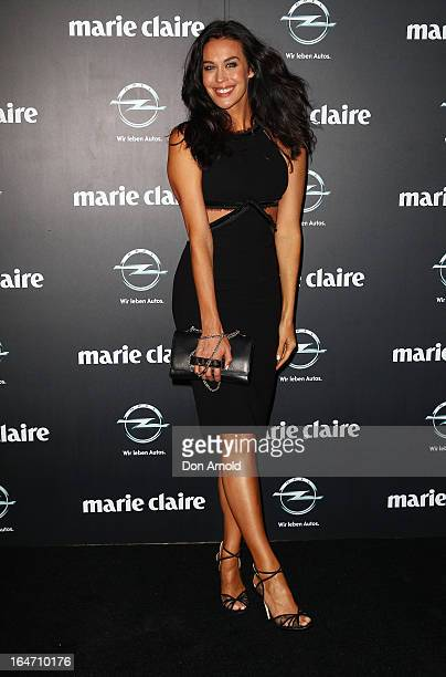 Megan Gale arrives at the 2013 Prix de Marie Claire Awards at the Star on March 27 2013 in Sydney Australia