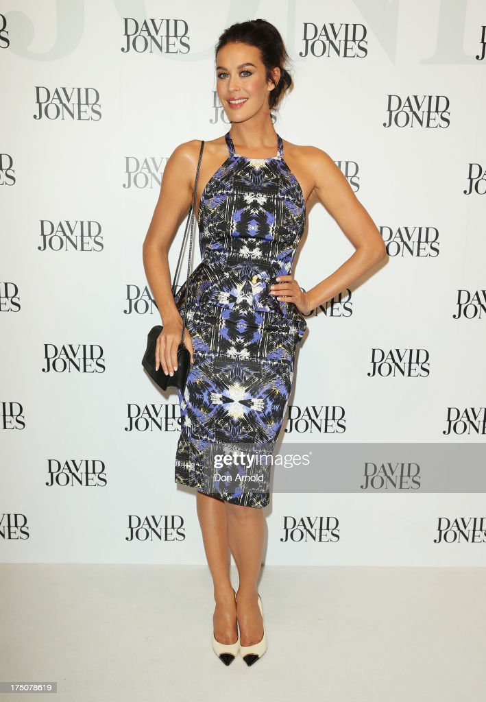 Megan Gale arrives at the David Jones Spring/Summer 2013 Collection Launch at David Jones Elizabeth Street on July 31, 2013 in Sydney, Australia.
