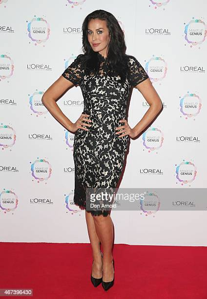 Megan Gale arrives at the L'Oreal Paris Launch event at the Carriageworks on March 24 2015 in Sydney Australia