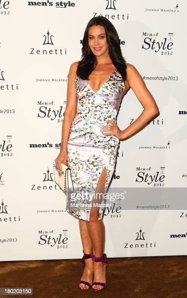 Megan Gale arrives at the Men's Style 10th Birthday Party at The Ivy on September 10 2013 in Sydney Australia