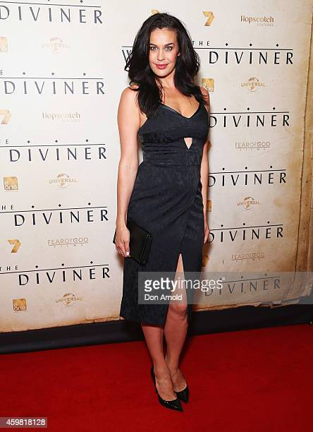 Megan Gale arrives at the World Premier of 'The Water Diviner' at State Theatre on December 2 2014 in Sydney Australia