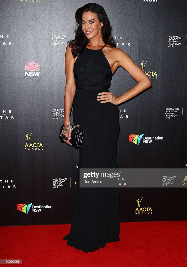Megan Gale arrives for the 2nd Annual AACTA Awards at The Star on January 30, 2013 in Sydney, Australia.