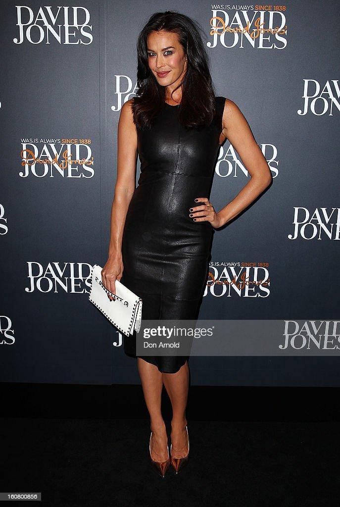 Megan Gale arrives for the David Jones A/W 2013 Season Launch at David Jones Castlereagh Street on February 6, 2013 in Sydney, Australia.